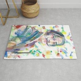 SALVADOR DALI - watercolor portrait.2 Rug
