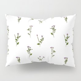 PRESSED FLOWERS - Chickweed Willowherb - Open Pillow Sham