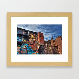 Colourful MANchester Framed Art Print