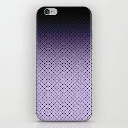 Black and purple Ombre iPhone Skin