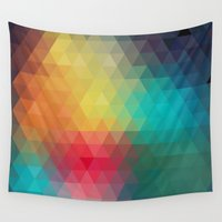 reassurance Wall Tapestries featuring Abstract Geometric Pattern by Rothko