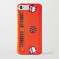 volkswagon iPhone & iPod Cases featuring  Volkswagon Bug Van by Lavender~Ramonde