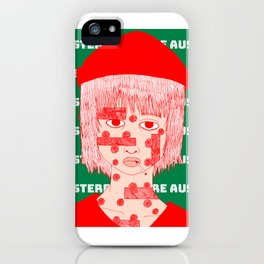 Austere Gal iPhone Case