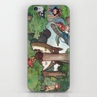 studio ghibli iPhone & iPod Skins featuring Studio Ghibli Crossover by malipi