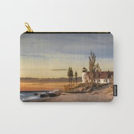 Point Betsie Lighthouse at Sunset on Lake Michigan near Frankfort Michigan No.66032 Fine Art Lightho Carry-All Pouch