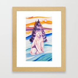 La Osa Rosa Framed Art Print