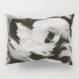 Brush, Abstract, White & Black Pillow Sham