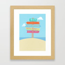 Ibiza Poster Framed Art Print