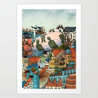 what's in your city? Art Print