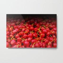 cherries pattern hvhdstd Metal Print