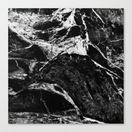 Marble Black Canvas Print