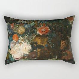 Jan van Huysum - Still Life with Flowers and Fruit Rectangular Pillow