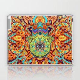 Colorful  Hamsa Hand -  Hand of Fatima Laptop & iPad Skin