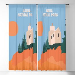 Sea Breeze Sunset In Acadia National Park Blackout Curtain