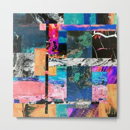 Abstraction - Abstract, textured layers Metal Print