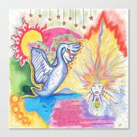swan Canvas Prints featuring swan  by Spirit Candy