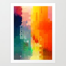 DIGITAL GLITCH 3 Art Print