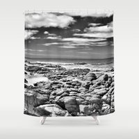 rocky Shower Curtains featuring Rocky OutCrop by Brian Raggatt