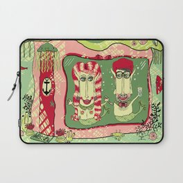 Sea Home of the Hipster Mer-Couple Laptop Sleeve
