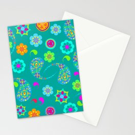 Green Paisley № 5 Stationery Cards