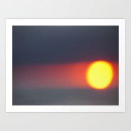 Pacific Sunset Blur Art Print