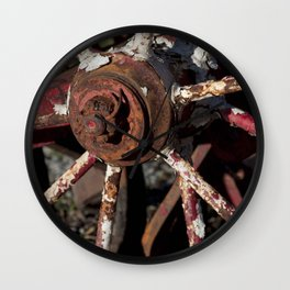 Rusted Wheel Wall Clock