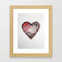 Stained Heart Framed Art Print