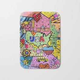 USA Popart 2018 by Nico Bielow Bath Mat