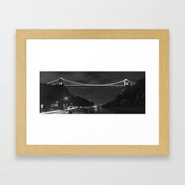 Clifton suspension bridge mono Framed Art Print