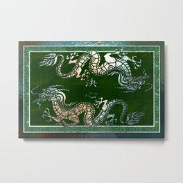 Chinese Dragon 1 Motif Metal Print