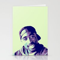 tupac Stationery Cards featuring Tupac by victorygarlic - Niki