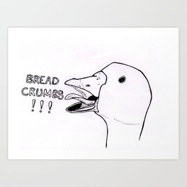 Bread Crumbs!!! Art Print