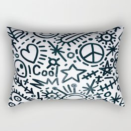 black and white graphics Rectangular Pillow