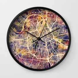 Nashville Tennessee City Map Wall Clock
