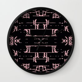Prehistoric messages Wall Clock