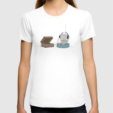 Little Robot  Womens Fitted Tee White SMALL