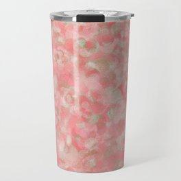 Salmon Blush with Olive Gold Accents Travel Mug