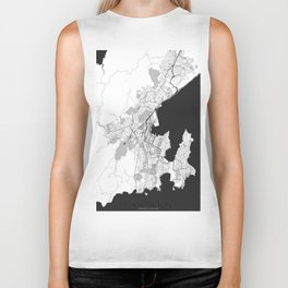 Wellington Map Gray Biker Tank