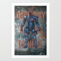 deathstroke Art Prints featuring Deathstroke by BatSpats