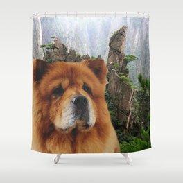 Dog Chow Chow Shower Curtain