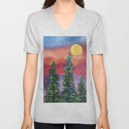 Fire in the Northern Sky Unisex V-Neck