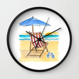 Life's a Beach! Wall Clock