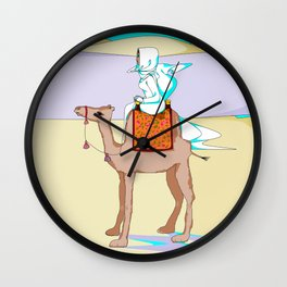 Women of the Earth Series: Woman of the Dessert and Camel Wall Clock