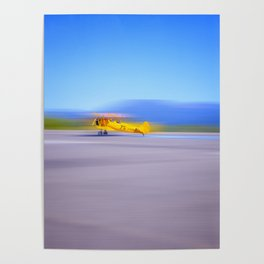 Just a Blur a classic two seater airplane Poster