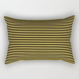 Even Horizontal Stripes, Yellow and Black, XS Rectangular Pillow