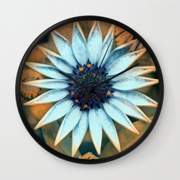 Floral abstract(2). Wall Clock