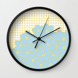 Forget Me Knot Gold Grid Wall Clock
