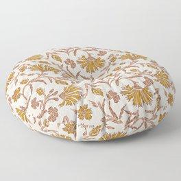 KALAMI FLORAL MUSTARD Floor Pillow