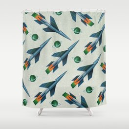Rockets Pattern Shower Curtain