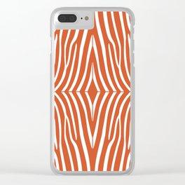 Orange Zebra Clear iPhone Case